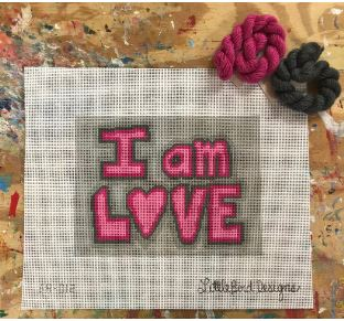 click here to view larger image of I Am Love (hand painted canvases)