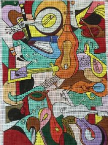 click here to view larger image of All That Jazz (hand painted canvases)