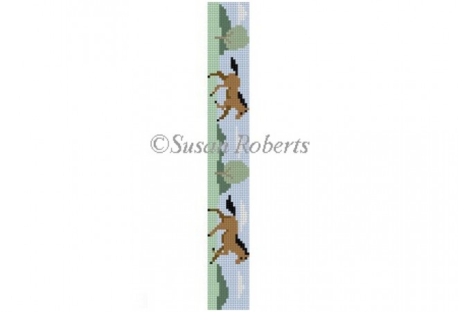 click here to view larger image of Horses Key Fob (hand painted canvases)