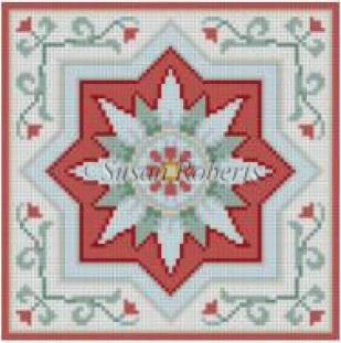 click here to view larger image of Medallion Tile II (hand painted canvases)