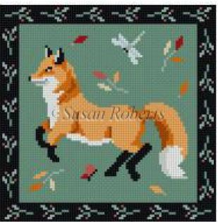 click here to view larger image of Folk Art Fox (hand painted canvases)