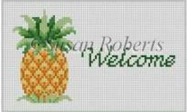 click here to view larger image of Pineapple - Welcome (hand painted canvases)