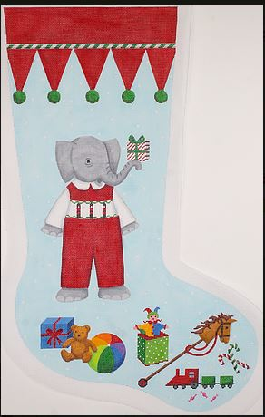click here to view larger image of Elephant Boy in Red Overalls (hand painted canvases)