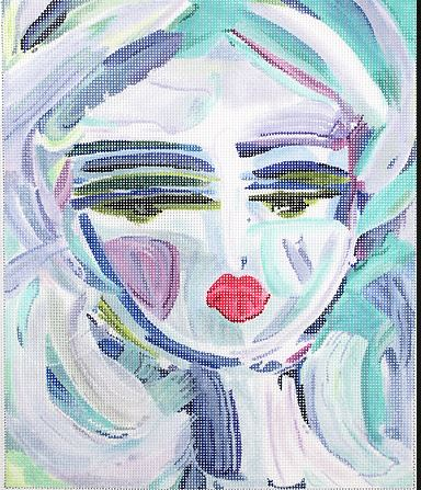 click here to view larger image of Blue Warrior Girl (hand painted canvases)