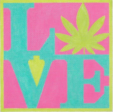 click here to view larger image of Weed LOVE (hand painted canvases)