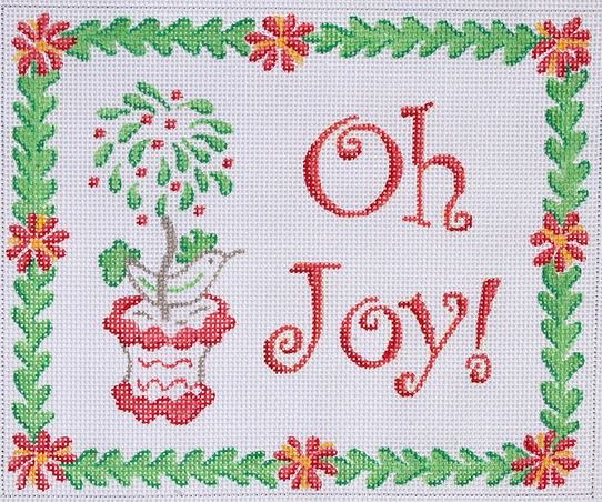 click here to view larger image of Oh Joy! Christmas Bird in Topiary  (hand painted canvases)
