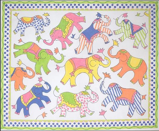 click here to view larger image of Oodles of Ellies Rug/Wall Hanging (hand painted canvases)