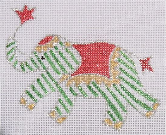 click here to view larger image of Mini Christmas Elephant (hand painted canvases)