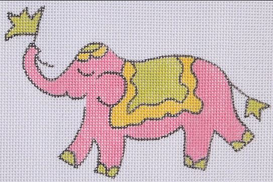click here to view larger image of Mini Elephant - Solid Pink (hand painted canvases)