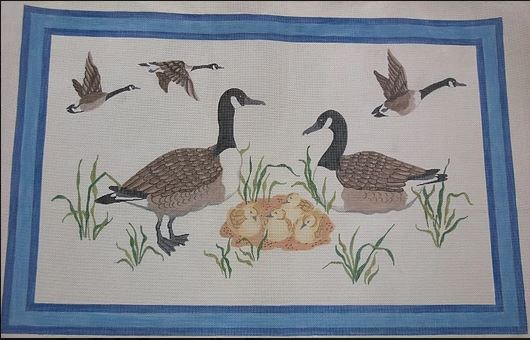 click here to view larger image of Canada Goose Family Rug/Wall Hanging (hand painted canvases)