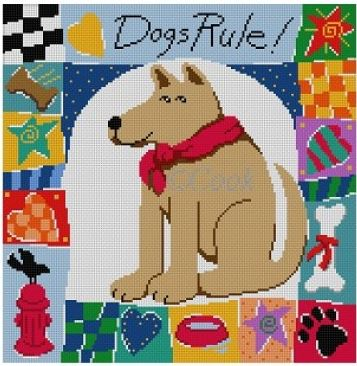 click here to view larger image of Dogs Rule  (hand painted canvases)