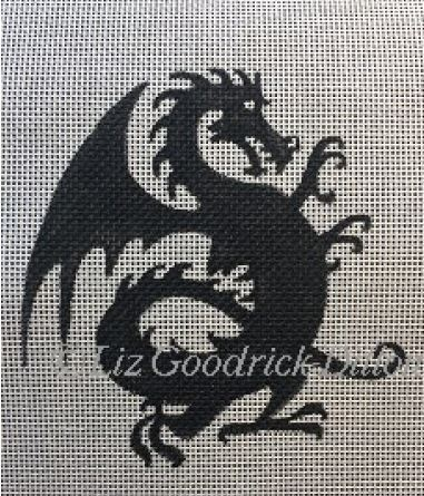 click here to view larger image of Dragon Silhouette (hand painted canvases)