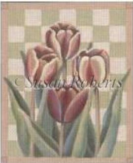 click here to view larger image of 4 Tulips (hand painted canvases)