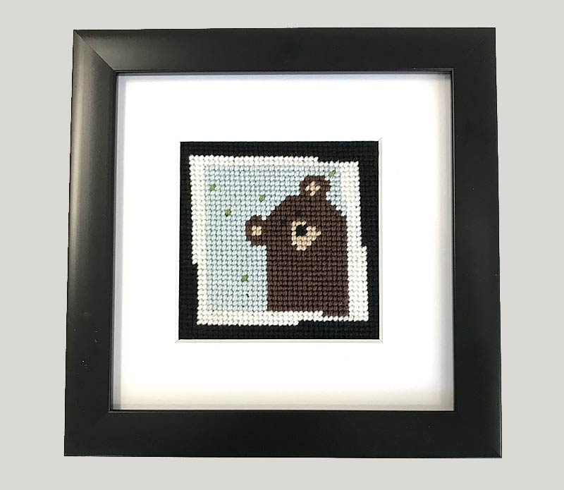 click here to view larger image of First Stitch Kit - Brown Bear (needlepoint kits)