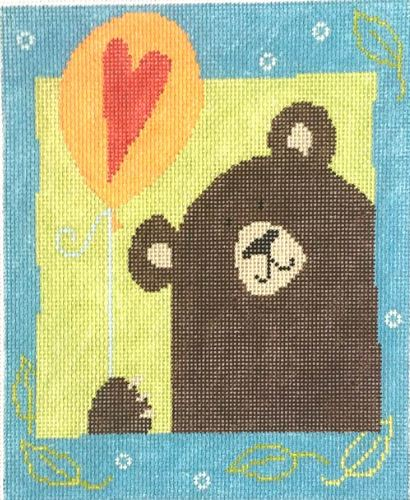 click here to view larger image of Bear with Balloon (hand painted canvases)