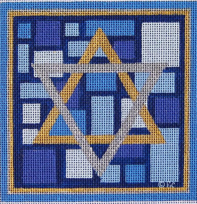 click here to view larger image of Star of David (hand painted canvases)