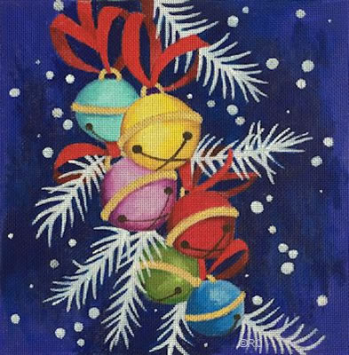 click here to view larger image of Jingle Bells (hand painted canvases)