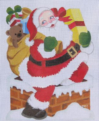 click here to view larger image of Santa Chimney  (hand painted canvases)