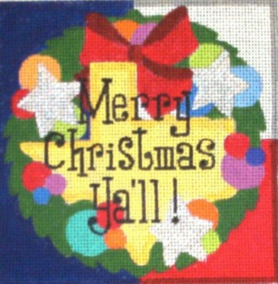 click here to view larger image of Merry Christmas Y'all (hand painted canvases)