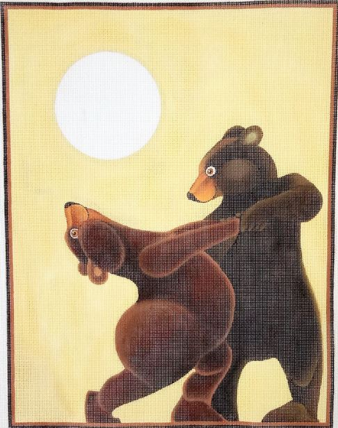 click here to view larger image of Dancing Bears - 18M (hand painted canvases)