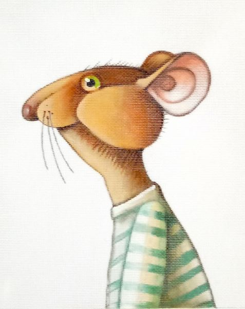 click here to view larger image of Mouse in a Shirt - 18M (hand painted canvases)