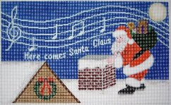 click here to view larger image of Here Comes Santa Claus (hand painted canvases)