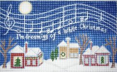 click here to view larger image of White Christmas (hand painted canvases)