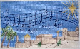 click here to view larger image of Silent Night  (hand painted canvases)