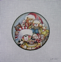 click here to view larger image of Beary Christmas  (hand painted canvases)
