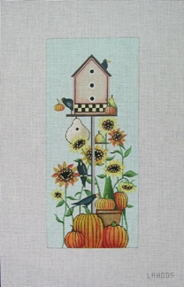 click here to view larger image of Harvest Birdhouse (hand painted canvases)