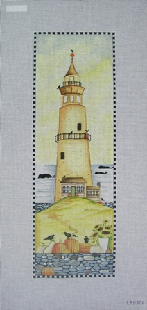 click here to view larger image of Autumn Lighthouse (hand painted canvases)