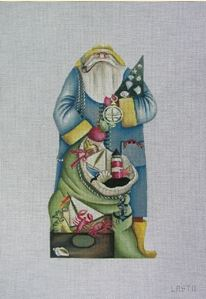 click here to view larger image of Old Salt Santa (hand painted canvases)