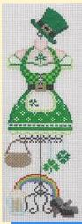 click here to view larger image of Dress Form - St. Patricks   (hand painted canvases)