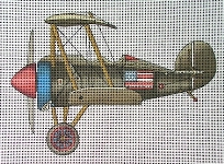 click here to view larger image of Vintage Biplane (hand painted canvases)