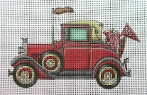 click here to view larger image of Antique Car (hand painted canvases)