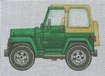 click here to view larger image of Hard-Top Jeep (hand painted canvases)