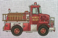 click here to view larger image of Volunteer Fire Truck (hand painted canvases)