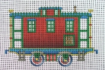 click here to view larger image of Red Caboose (hand painted canvases)