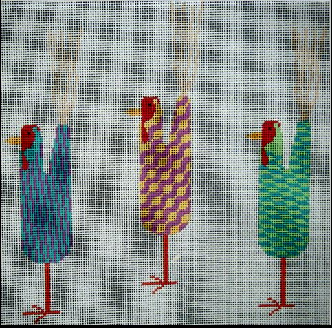 click here to view larger image of Navajo Chickens - 3  (hand painted canvases)