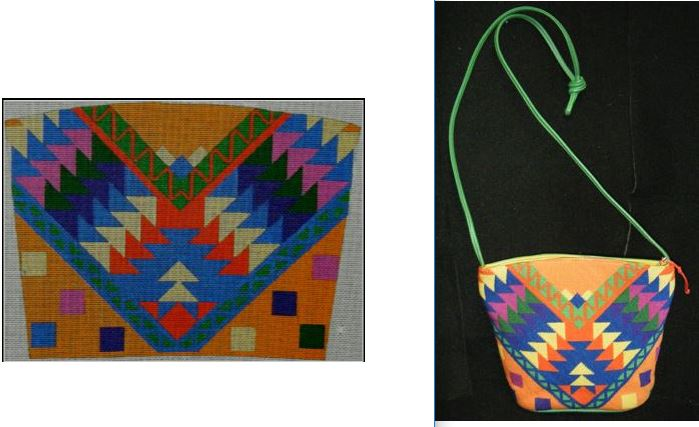 click here to view larger image of Guatamalen Eagen Purse (hand painted canvases)