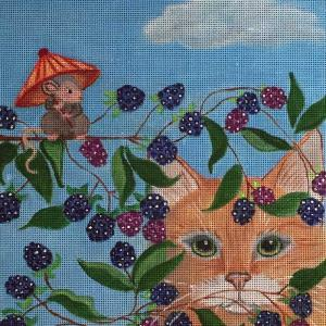 click here to view larger image of Blackberry Cat - 13M (hand painted canvases)