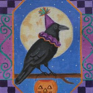 click here to view larger image of Halloween Crow	 (hand painted canvases)