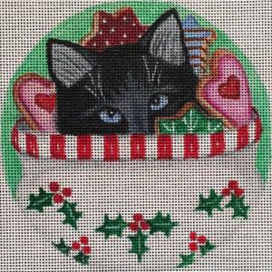 click here to view larger image of Cookie Jar Cat Stitch Guide (hand painted canvases)