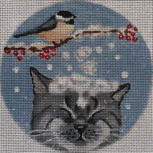 click here to view larger image of Snow Cat Stitch Guide (hand painted canvases)