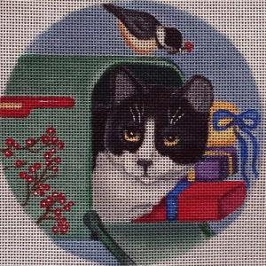 click here to view larger image of Mailbox Cat Stitch Guide (hand painted canvases)