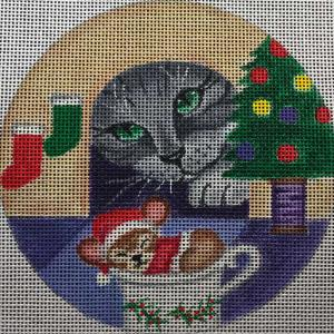 click here to view larger image of Cat & Mouse Stitch Guide (hand painted canvases)