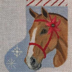 click here to view larger image of Horse Mini Sock (hand painted canvases)