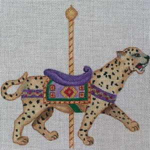 click here to view larger image of Carousel Cheetah (hand painted canvases)