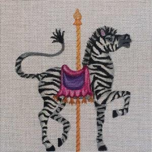 click here to view larger image of Carousel Zebra (hand painted canvases)