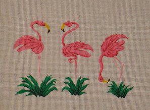 click here to view larger image of Flamingos (hand painted canvases)